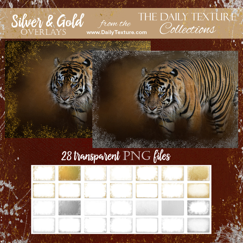 Gold and Silver Leaf Overlay Collection