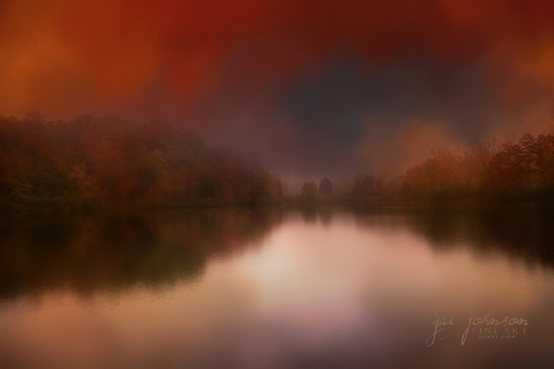 Dreamy Autumn Lake - Landscape art