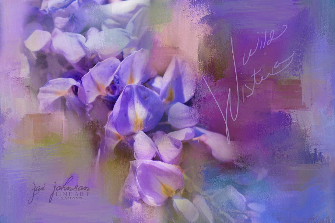 Wild Wisteria Flower Art