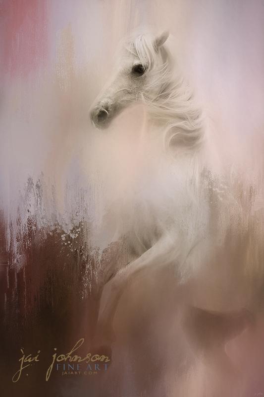 Wild Winter Day - Horse Art